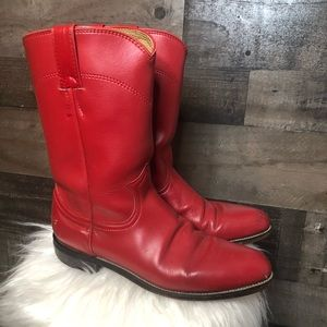 Justin Red Cowboy Cowgirl Western Boots 3055L